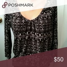 Top Scoop neck , peasant  style, soft knit joie Tops Blouses