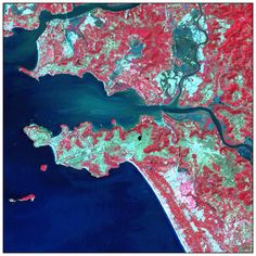 A satellite image of Goa by the Indian Space Research Organisation (ISRO)
