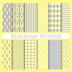 Mustard Greys Patterned Digital Scrapbooking Papers is a bright set and a great way to adorn your invitations, cards, stationery, scrapbooks, etc.,