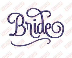 Bride Machine Embroidery Design File Embroidery Files, Machine Embroidery Designs, Design Files, Bride, Wedding Bride, The Bride, Brides, Bridal