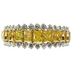 1990 Fancy Yellow Diamond Bracelet