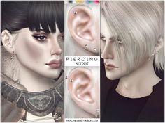 Piercing Set N07 by Pralinesims at TSR via Sims 4 Updates
