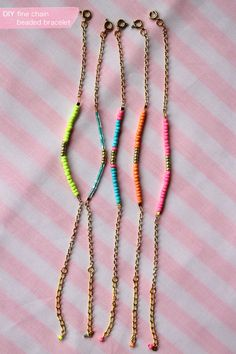 Lotts and Lots | Making the everyday beautiful: DIY - fine chain beaded bracelet
