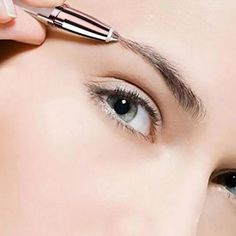 NEW Brand Electric Eyebrow Trimmer Makeup Mini Eye Brow Shaver Razor Portable Epilator Facial Hair Remover Painless Shaver Tool - Makeup Tips Highlighting Eyebrow Shaper, Eyebrow Trimmer, Eyebrow Wax, Eyebrow Razor, Eyebrow Stencil, Best Trimmer, Brow Pen, Lipstick Designs, Lips