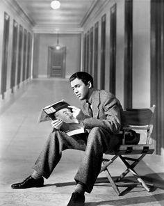 "Jimmy Stewart on the set of ""Mr. Smith Goes to Washington"" (1939)"