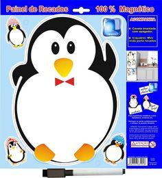 Lousa De Recado Imã Pinguim Painel Para Geladeira - Loja Ula lá