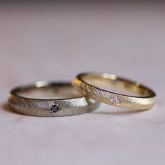 ブラックダイヤモンドとダイヤモンドでお仕立てしたピウマ [marriage,wedding,ring,bridal,K18,Pt900,マリッジリング,結婚指輪,オーダーメイド,ブラック,ダイヤモンド,diamond,ウエディング,ith,イズマリッジ]
