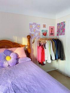 Indie Room Decor, Cute Room Decor, Aesthetic Room Decor, Room Design Bedroom, Room Ideas Bedroom, Bedroom Decor, Bedroom Inspo, Pastel Room, Pretty Room