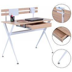 New Wood Top Computer Desk Writing Laptop Table Workstation Home Office Furniture