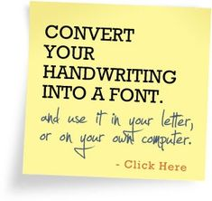 your own handwriting font