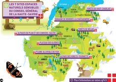 Les 7 sites #ENSDep74 du Conseil général de la Haute-Savoie. + d'infos sur www.nature.cg74.fr
