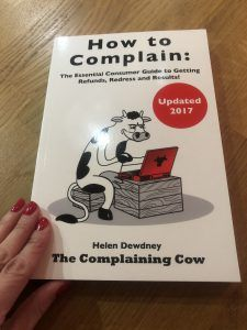How to Complain Effectively – 10 Top Tips: Guest Post by Helen Dewdney The Complaining Cow #consumerrights