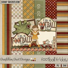 Football Friday By Dandelion Dust Designs is available now at ScrapTake Out: http://scraptakeout.com/shoppe/Football-Friday-By-Dandelion-Dust-Designs.html