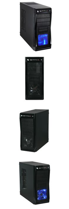 Blue LED Front Fan Rosewill Gaming Computer PC Case ATX Mid Tower CHALLENGER