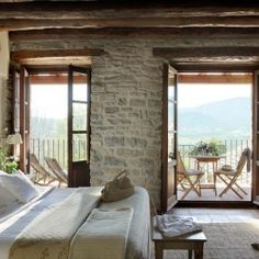 Monastery transformed into charming mountain refuge in the Pyrenees Mountains of Spain.