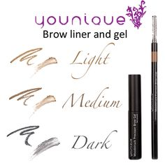 Brow liner and gel www.youniqueproducts.com/AmberDorsey
