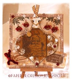 Vintage Santa - handmade Christmas Card