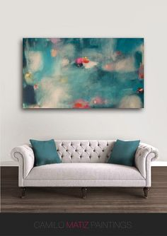 "Original abstract giclée Print of painting with blue,pink . large abstract print by Camilo Matiz ""The Swan"" by luxartpaintings on Etsy https://www.etsy.com/listing/247181544/original-abstract-giclee-print-of"