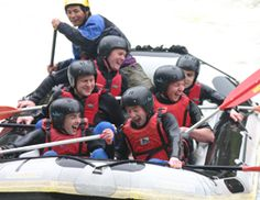 White Water Rafting great fun on a #hen party