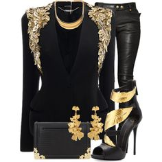 A fashion look from January 2014 featuring Alexander McQueen blazers, Balmain and Giuseppe Zanotti sandals. Browse and shop related looks. Classy Outfits, Stylish Outfits, Fashion Outfits, Dope Fashion, Womens Fashion, Looks Chic, Look Cool, Swagg, Casual Wear