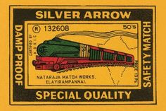 Thousands of companies manufactured matches worldwide and used a variety of fancy labels to make their brand stand out. This version featured a steam train.
