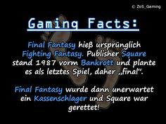"""Final Fantasy hieß ursprünglich """"Fighting Fantasy"""". Publisher Square stand 1987 vorm Bankrott und plante es als letztes Spiel, daher """"final"""". Final Fantasy wurde dann unerwartet ein Kassenschlager und Square war gerettet!"""