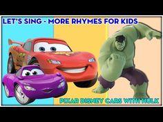 Head Shoulders Knees and Toes | Lots More Nursery Rhymes With Disney Cars Hulk | KiD Studio