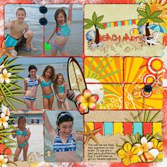 Beach Baby Kit and Word Art by Meagan's Creations  LIFEtime template v2 by Julie Billingsley