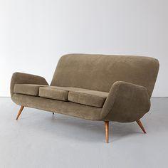Carlo Hauner and Martin Eisler; Sofa for Forma, 1950s.