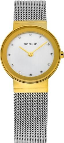 Bering Ladies Classic Two-Tone Stainless Steel Mesh Watch - Silver Mesh Band, Stainless Steel Mesh, Casual Watches, Women's Watches, Jewelry Watches, Ladies Watches, Luxury Watches, Classic Gold, Watch Brands