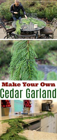 DIY, DIY Garland, Christmas Garland, Cedar Wreaths, Cedar Garland Instructions, Christmas Decorating