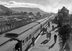 old railroad trains of south africa in photos | 57126s1, Beaufort West, 7-down c 1951 SAR photo collection P A Stow ...