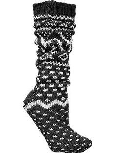 Womens Sweater-Sock Slippers