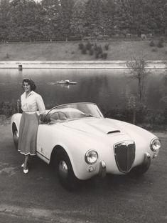 Lancia Aurelia 1956.  Love the photo.