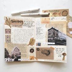 Art Journal Pages, Album Journal, Journal Ideas Smash Book, Bullet Journal Writing, Bullet Journal Spread, Bullet Journal Ideas Pages, Bullet Journal Inspiration, Art Journals, Travel Journal Pages