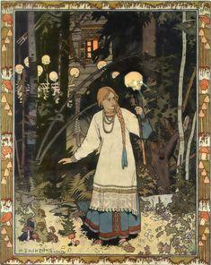 Ivan Bilibin. Vasilisa Prekrásnaya, 1899.