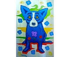 George Rodrigue Metal 2-13 Painting sale, painting