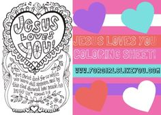 Jesus Loves Me {Printable Color Me Valentine's Day Card!} - For Girls Like You