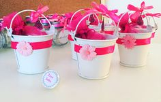 Filled with hersheys kisses and customized. So cute for a baby girl! Hershey Kisses, Packaging Ideas, Henna, Barware, Favors, Tableware, Christmas, Baby, Mothers