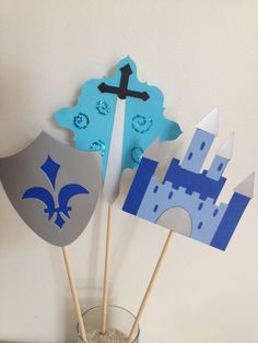 3 Centerpieces,Little Prince Party, over sized cupcake toppers, cupcake stand topper,baby shower center piece, birthday party