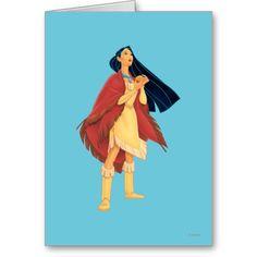 Pocahontas Cape Greeting Card