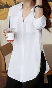 Resultado de imagen para tunicas o blusas blancas