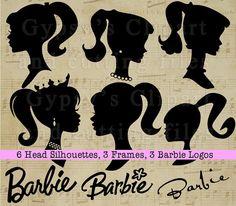 Barbie SVG Barbie Silhouettes Barbie Logo Vintage by GypsysClipart
