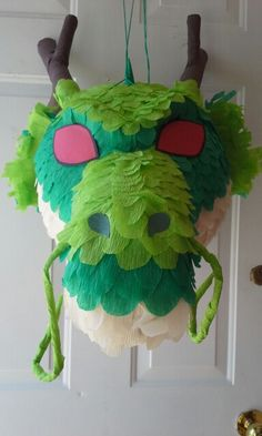 Shenron pinata I made at Outside thes Art Studio. Baby Boy 1st Birthday Party, Ball Birthday Parties, Baby Party, Dragon Birthday, Dragon Party, Dbz, Medieval Dragon, Game Of Thrones Party, Knight Party