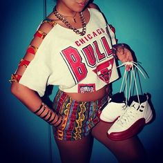 chicago bulls Dope Outfits, Classy Outfits, Casual Outfits, Fashion Outfits, Urban Outfits, Dope Fashion, Urban Fashion, Runway Fashion, Swag Style
