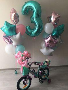 Globo de la Hoja Decoración De Mesa Pantalla Airfill no Helio-edad 1 1ST Cumpleaños BL