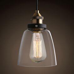 1pc Retro Vintage Pendant Light Glass Lamp Shade Chandelier Lighting Edison Bulb