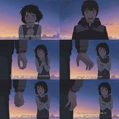 tbh I was just lazy and I didn't watch any anime today so :-) ↠ Movie:✩Kimi no Na Wa (Your Name)✩ Kimi No Na Wa, Sad Anime, Anime Love, Kawaii Anime, Watch Your Name, Mitsuha And Taki, Your Name Anime, Japanese Drawings, World Movies