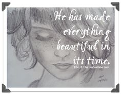 Everything Beautiful - great article to tweens about beauty