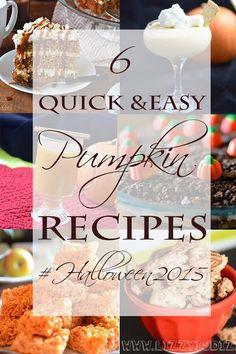 6 Pumpkin Recipes for #Halloween2015